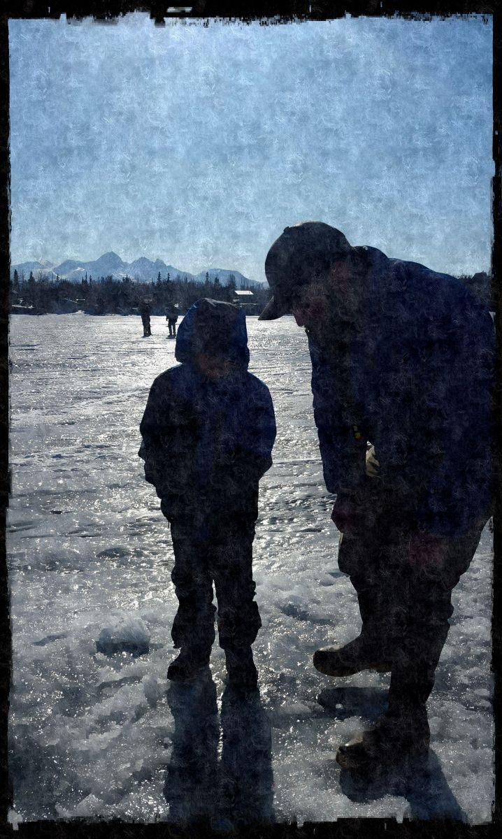 New experience ice fishing in alaska once upon alaska for Ice fishing 2017